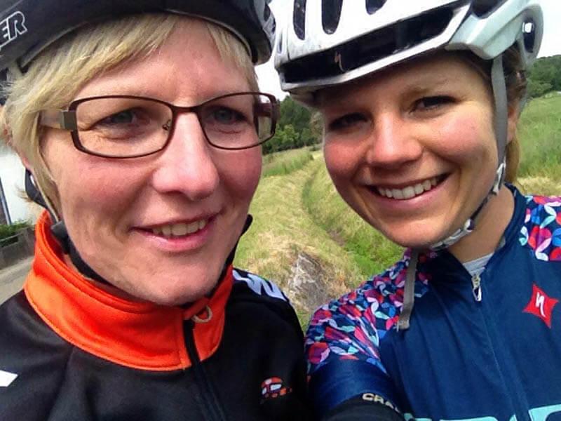 fietsen met mama